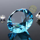 Lake Blue Crystal Diamond Shaped Paperweight Glass Wedding Ornament Gift 30mm