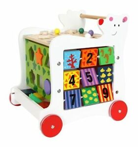 Charmant Image Is Loading Baby Wooden Bear Walker Shape Sorter Toddler Wooden