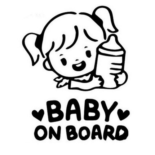 baby on board  sticker  vinyl decal for car and others FINISH GLOSSY