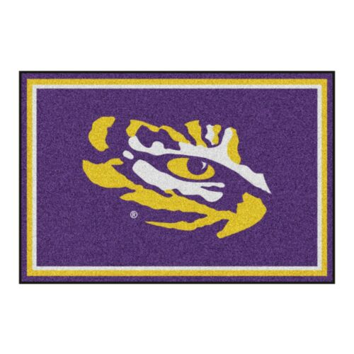 LSU Tigers 5/' X 8/' Decorative Ultra Plush Carpet Area Rug