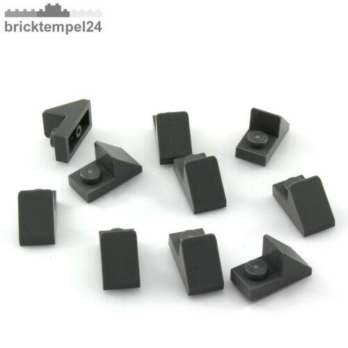 NEU 10x Dachstein 45° 2x1 mit 1//3 Platte dunkelgrau LEGO 15672 slope