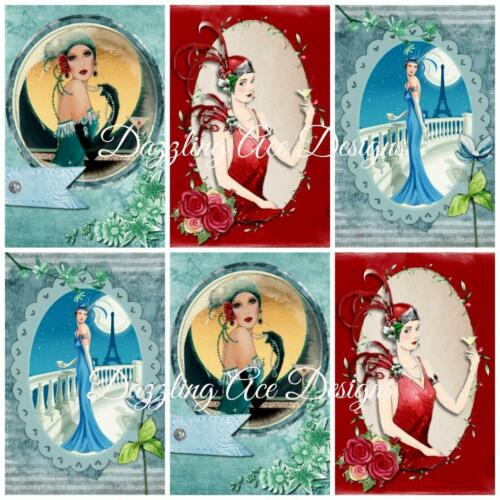 Card Toppers Card Making Toppers ART DECO COCKTAIL HOURS..Embellishments