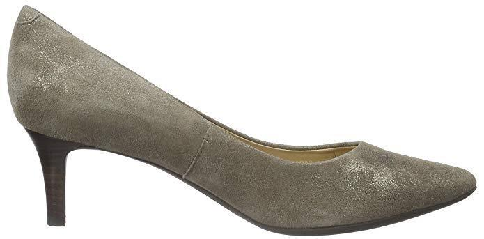 GEOX Größe 2.5 35 35 35 D ELINA C TAUPE MINK REAL LEATHER SUEDE KITTEN HEEL COURT schuhe 08a88f
