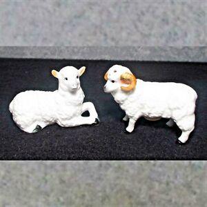 Details about Ram & ewe sheep salt & pepper figures/statues high gloss  china 2