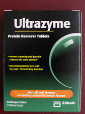 Ultrazyme Protein Remover Tablets 1 Box 10 Tablets Contact Lens Cleaner