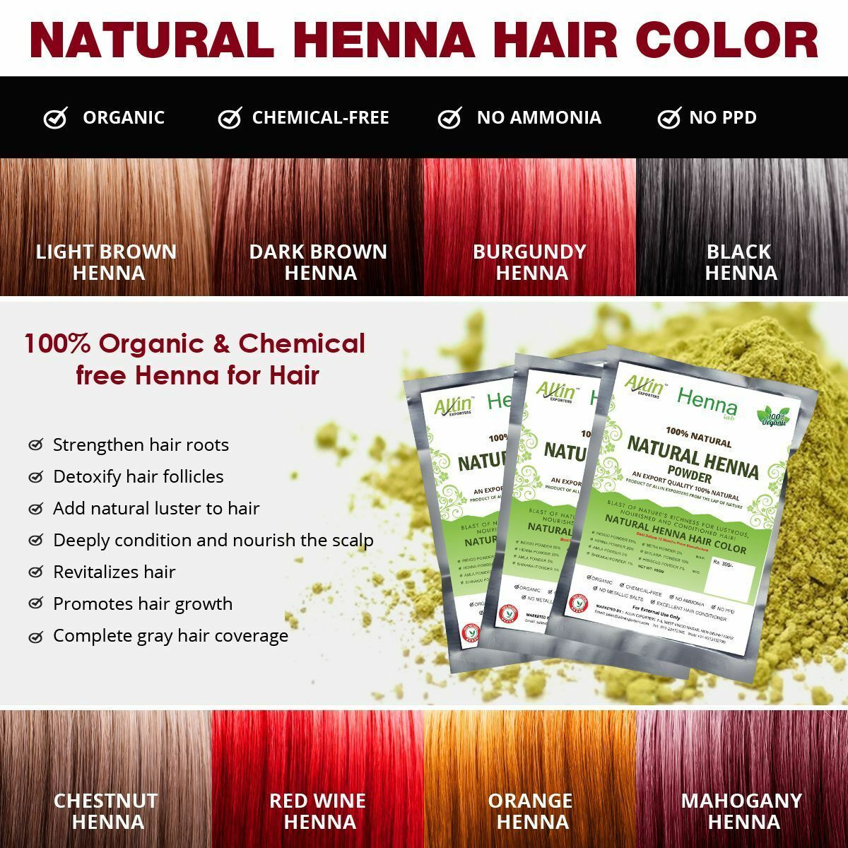 8f3e903e580dd Dabur Vatika 100% Natural Henna Hair Color Creme Kit – Natural Brown