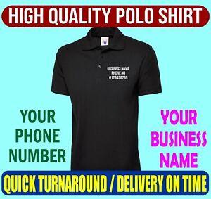 Personalised Mens Polo Shirt Custom Advertising Top Workwear Tshirt For Branding