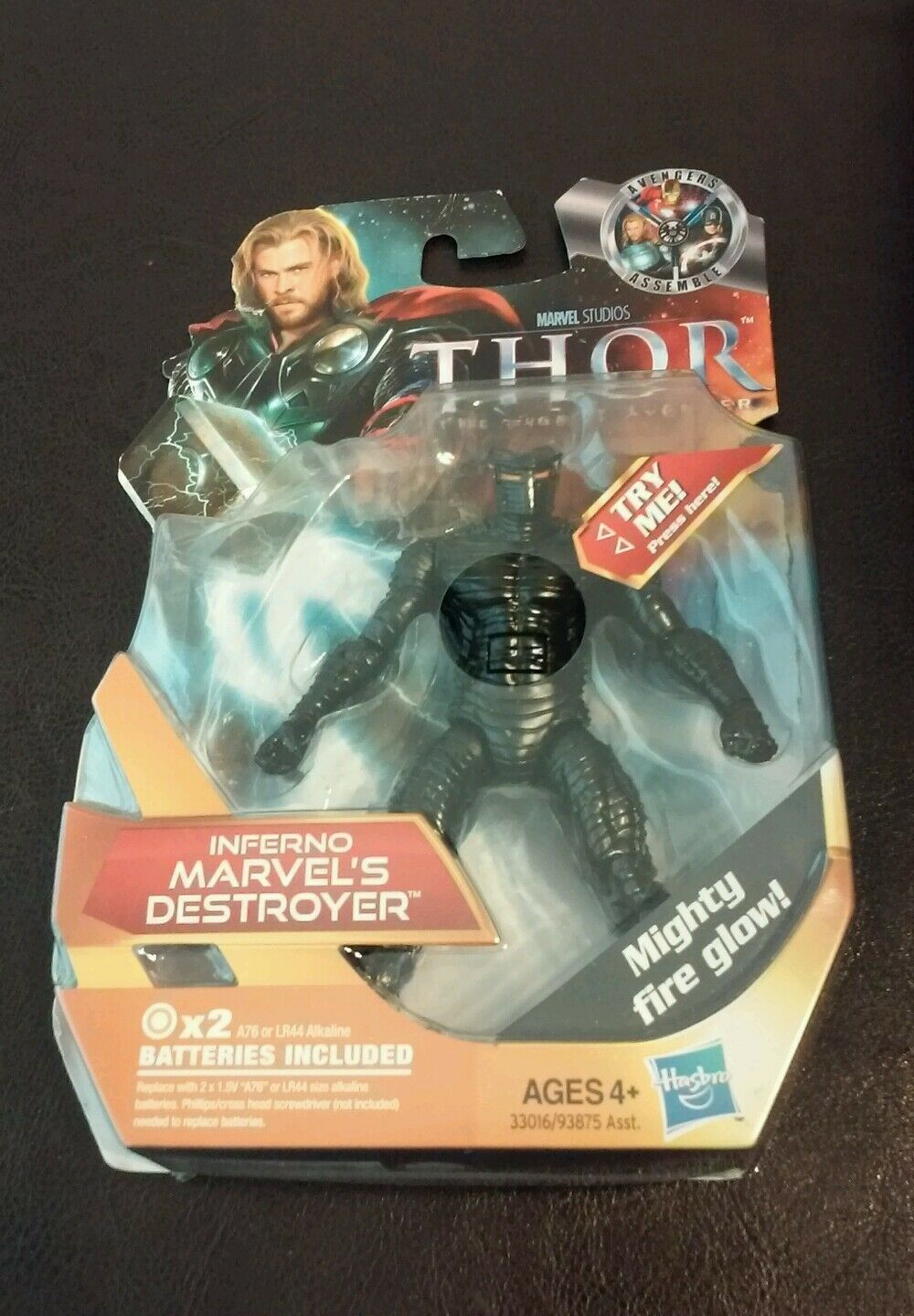 """Marvel Studios Thor 4.75/"""" INFERNO DESTROYER w// Mighty Fire Glow New Loose"""