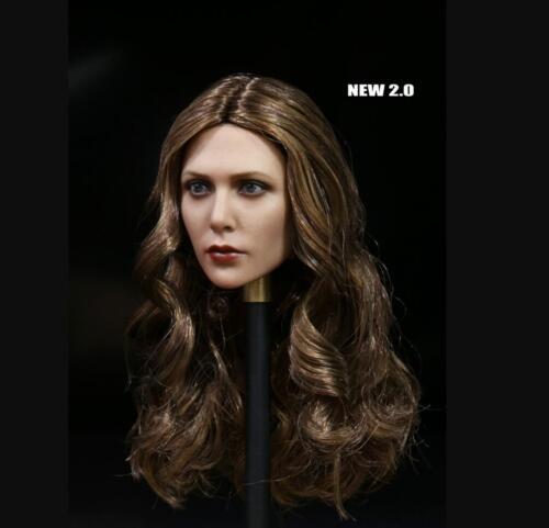 1//6 Scarlet Witch Elizabeth Olsen Head Sculpt 2.0 Fit Hot Toys Phicen KUMIK ❶ USA ❶