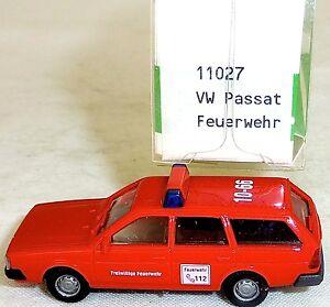 Vw-passat-variant-pompiers-Mesureur-EUROMODELL-11027-h0-1-87-OVP-ho-1-a