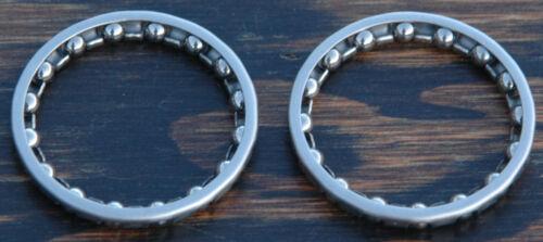 "Vintage Road Bike RBH Headset Bearings 1/"" Fork 16x5//32 Ball Retainer Fixie Bike"