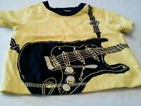Baby Boy Yellow Short Sleeved Shirt 3-6 Months Guitar With Tags