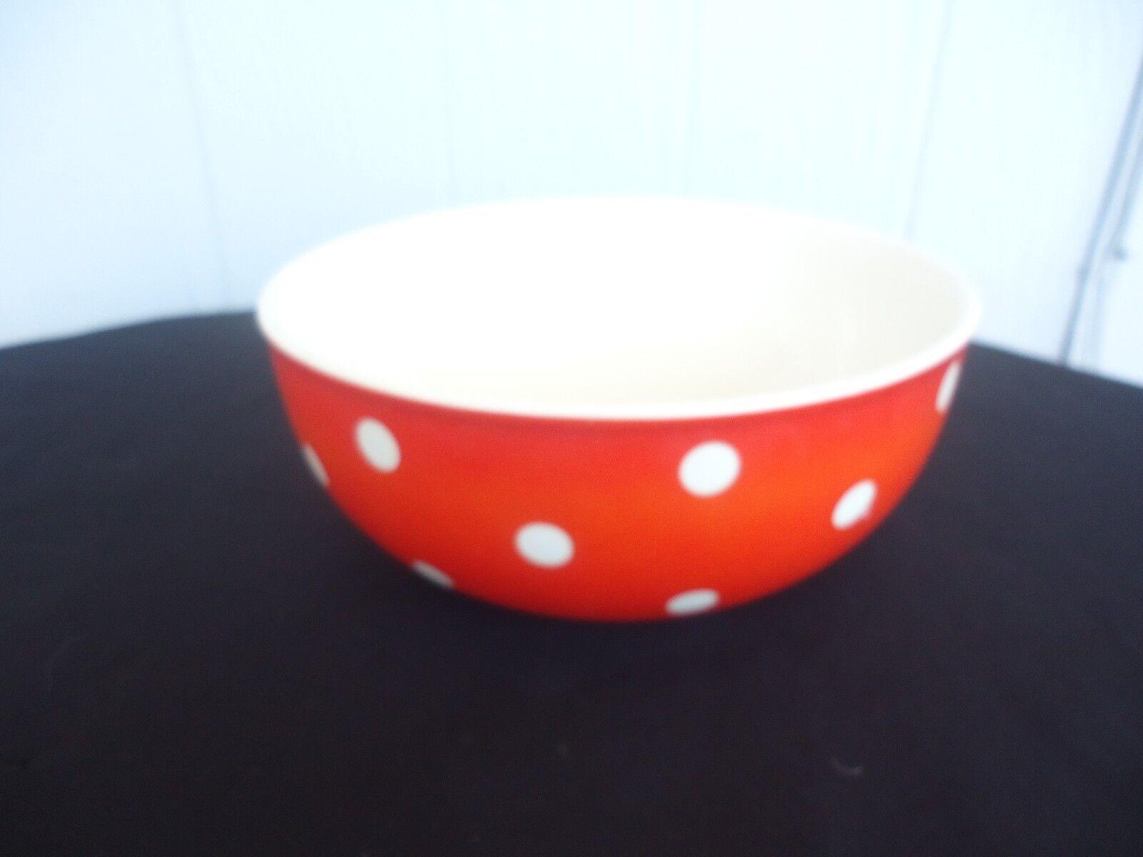 Waechtersbach vintage retro Orange polka dot spot mixing bowl west german