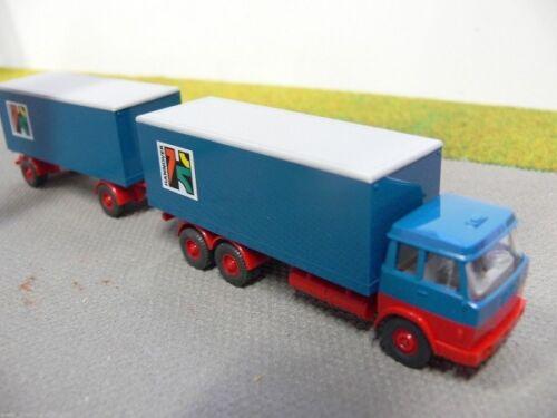 1//87 Wiking Hanomag Henschel blau//rot Koffer-HZ Hannover aus Set