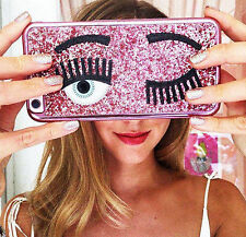 Flirty Pink Wink Eyes Bling Case For iPhone 7 Cute Gift For Her Summer Party