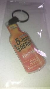 (+ Cadeau Gratuit) Neuf Rare Pêche Mangue 5 H Energy Key Chain Keychain Fob Ring-afficher Le Titre D'origine