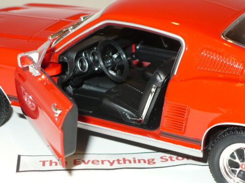 WELLY 1967 FORD MUSTANG GT FAST BACK 1:24 BRIGHT RED FREE USA SHIP