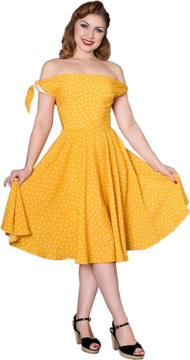 Sheen TAYLOR Vintage Polka Dot PUNKTE Bow Retro SWING Kleid Plus Größe Rockabilly