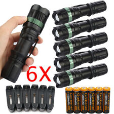 900000LMS T6 LED Zoomable Flashlight Rechargeable 18650 Torch+Battery&US Charger