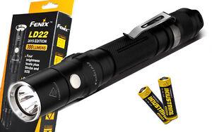Fenix LD22 2015 Ed. 131 yard LED Flashlight Includes 2 x AA Batteries- 300 Lumen