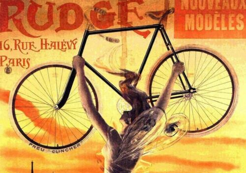 Cycles Rudge 1890 Bicycle Advertising France Vintage Poster Print Art Nouveau