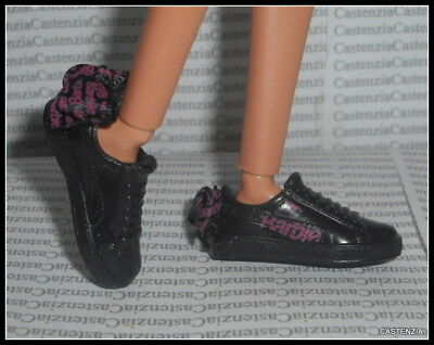 NEW Barbie Puma Doll Designer Black Pink Bow Sneakers Made To Move Shoes Clothes