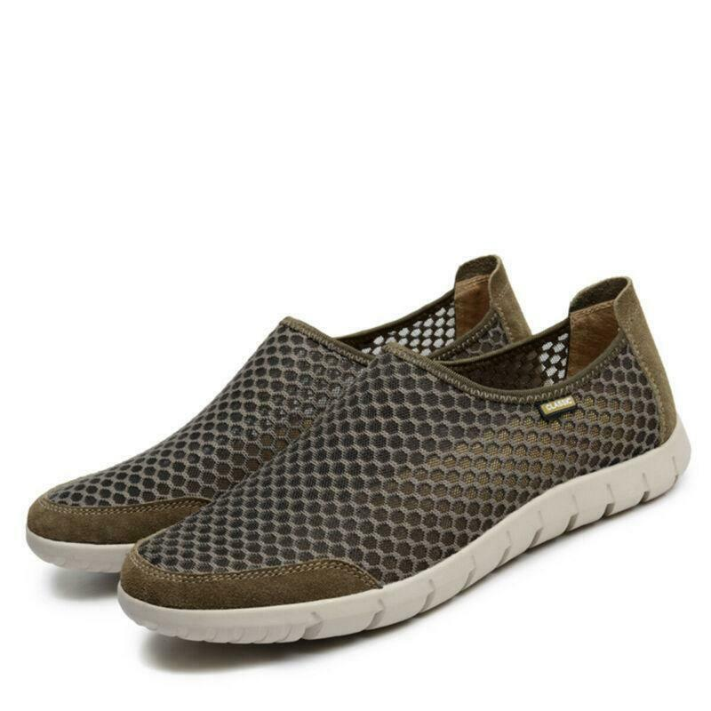 Mens Outdoor Walking Breathable Mesh Loafers Slip On driving Sports shoes New