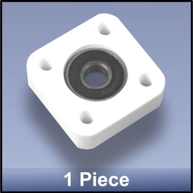 Compact Quality CNC 8mm 4 Bolt Square Block Flange  Bearing Block  - 1 piece