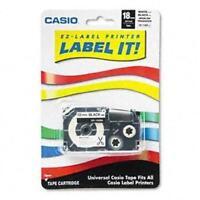 Casio Inc. Xr118bk Tape Cassette For Ez-label Printer, New, Free Shipping