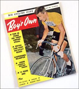 Vintage-rare-1964-BOY-S-OWN-PAPER-magazine-Tour-De-France-Tommy-Simpson-cycling