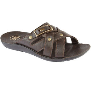 10ff044af4c Men s Gezer Faux Leather Flip Flops Sports Beach Shoes Sandals ...