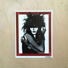 Supreme box sticker vinyl decal skateboard bumper Siouxsie Banshees