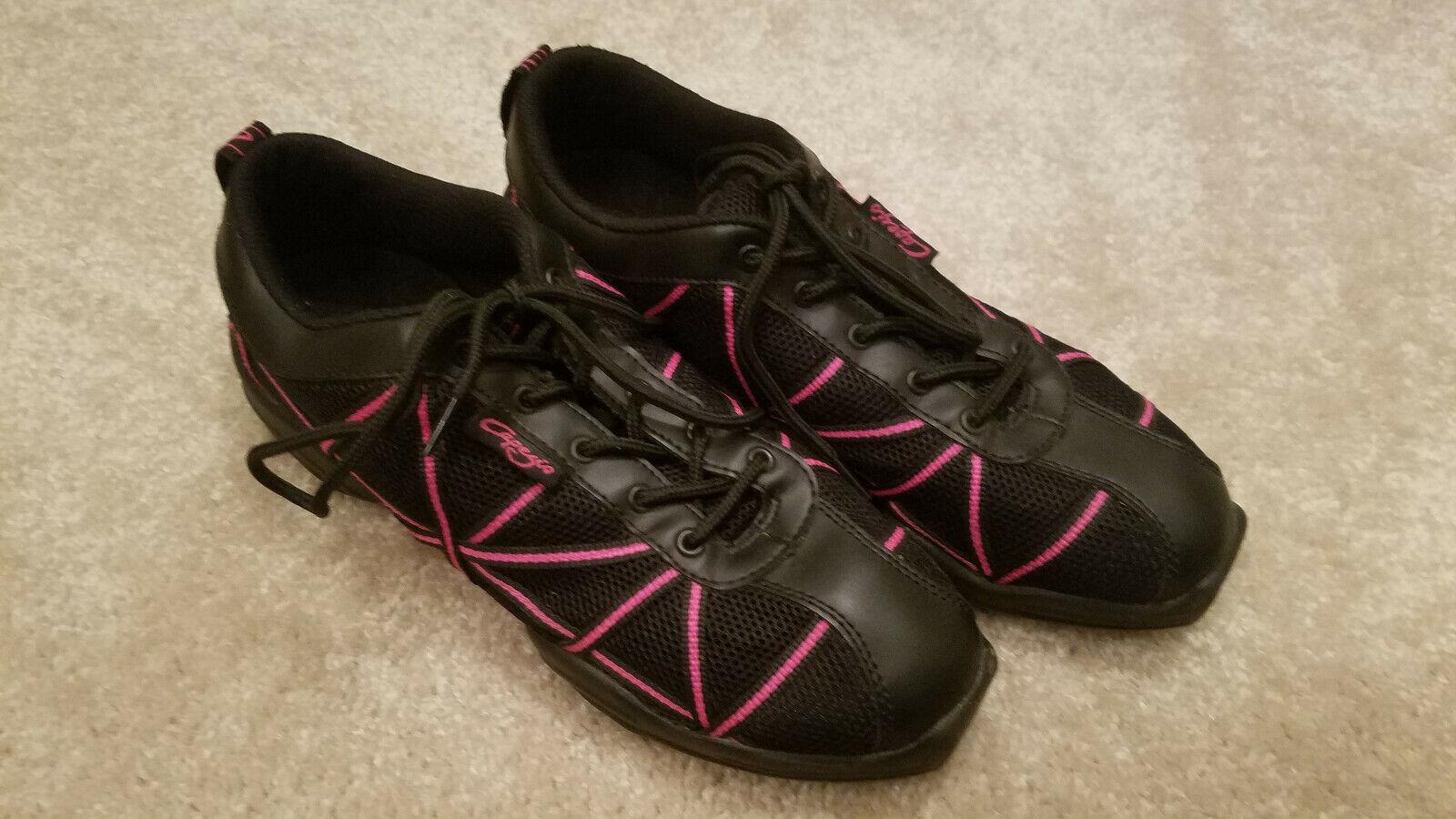 2 Paires! - CAPEZIO Dance Chaussures Taille 9 Femme Noir et Rose, & Noir