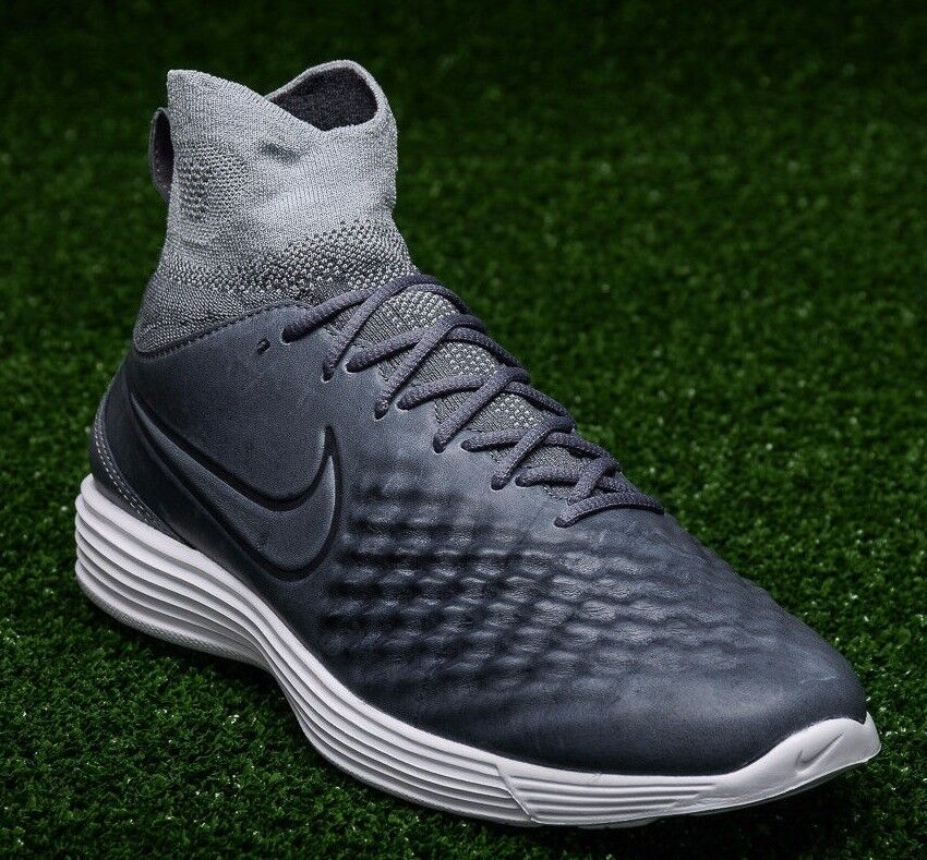 f33075a0ca8 New NIKE NIKE NIKE Men s Lunar Magista II Flyknit Shoe 852614-002 Dark Wolf  Gray