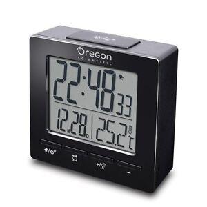 Reveil-Radio-controlled-de-voyage-RM511-OREGON-SCIENTIFIC-couleur-noire