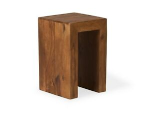 beistelltisch 30x30 holz palisander braun blumenhocker couchtisch massivum cube ebay