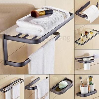 Black oil Rubbed Brass Bathroom Accessories Set Bath Hardware Towel Bar Pxz020