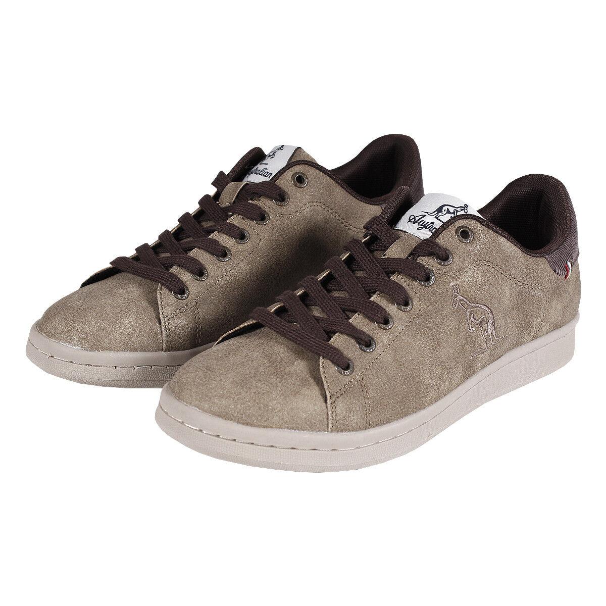 shoes men Australian Sneakers Basse Beige Nabuk Casual Lacci Stringhe SARANI