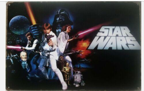 STAR WARS Plaque Métal Tin Signe film film Wall Poster DARTH VADER Han Solo a1 ☆