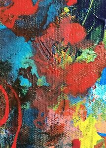 Original-Aceo-ATC-Painting-Abstract-Floral-Art-Trading-Card-Signed
