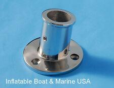 "Boat Flag Pole Holder Socket Base  - 1""- 10 Degree Angle- Marine Stainless Steel"