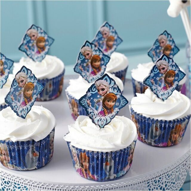 Wilton 1 X Industries 2113-4500 Disney Frozen Fun Pix Cupcake Decor
