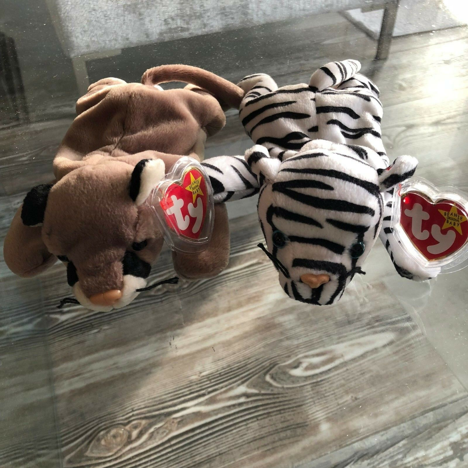 Authentic Ty Beanie Babies  Blizzard  &  Canyon  Bundle MWMT 4th Generation
