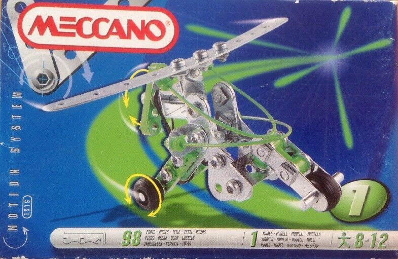 MECCANO 1515 MOTION SYSTEM NEW SEALED BOX TOOLS & INSTRUCTIONS INCLUDED 98 PARTS