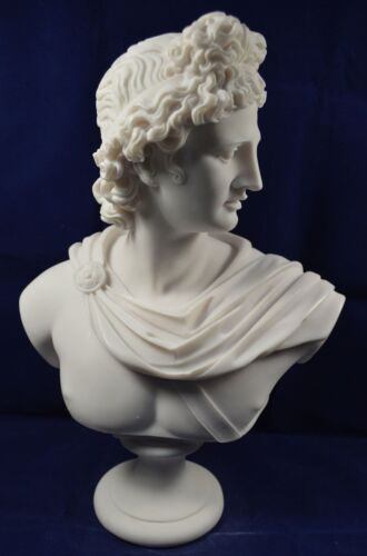 Apollo sculpture statue ancient Greek God of sun and poetry Great bust