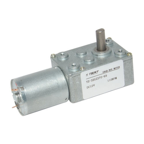DC6V 12V 24V 0.6-200RPM Micro Worm Gear Reducer Motor with Metal Gearbox 32GZ370