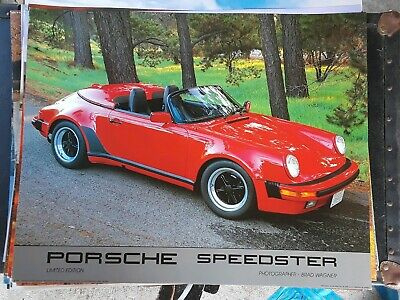 "USA Porsche News Exclusive Folded Poster 911 Speedster Concept Open Top 25""X22"""