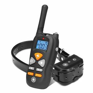 Dog Shock Training Collar Rechargeable IP67 Level Waterproof with 1800FT Remote