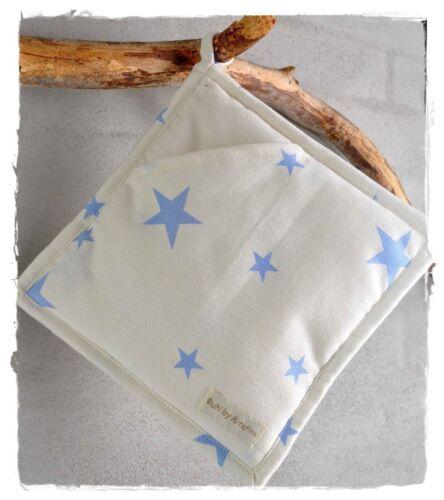 STERNE hellblau Topflappen mit Tasche Artefina Design Denmark