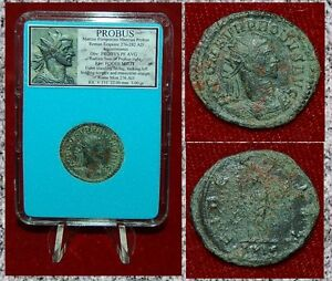 Ancient-Roman-Empire-Coin-Of-PROBUS-Fides-With-Ensign-On-Reverse-Antoninianus